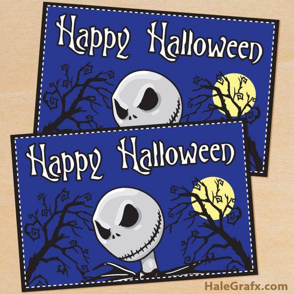 free printable nightmare before christmas halloween card this halloween printable is in pdf format and - Halloween Wav Files