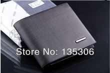 Promotion! Free shipping new fashion brand mens wallet, classic soild pattern designer wallet leather purse(China (Mainland))