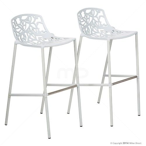Set of 2 - Forest Bar Stool - White