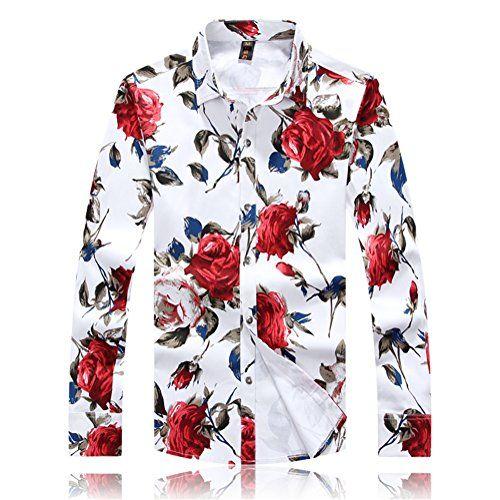 48 best APTRO Men's Mercerized Cotton Long Sleeve Floral Shirt ...