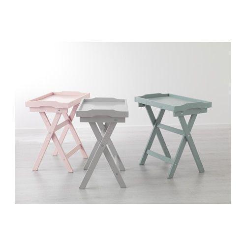 MARYD Mesa-tabuleiro - rosa - IKEA