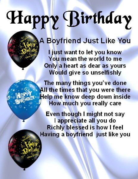 Fridge Magnet - Personalised - Boyfriend Poem -  Happy  Birthday + FREE GIFT BOX