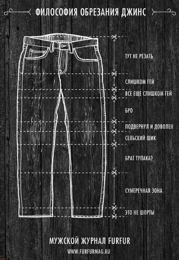 Философия обрезания джинсов (мужская)