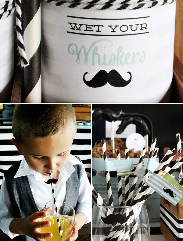 """Little Mister"" Mustache Birthday Party // Hostess with the Mostess®"