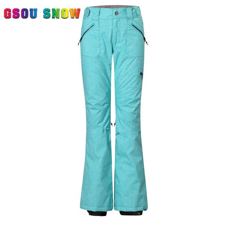 New Women Ski Pants Snow Pants Thicken Trousers Winter Warmth Professional Design 3D Stereoscopic Cut Outdoor Snowboard Pants