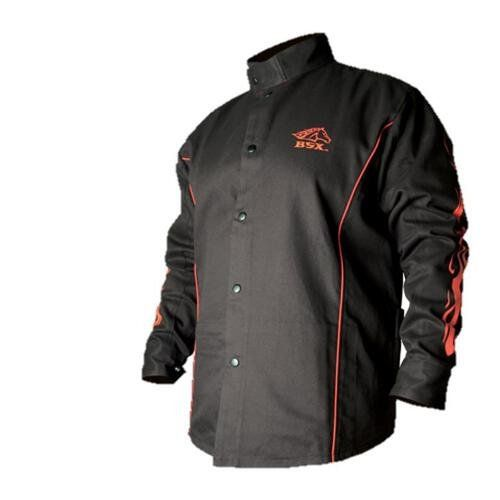 BSX BX9C Black W/ Red Flames Cotton Welding Jacket - XL - http://www.caraccessoriesonlinemarket.com/bsx-bx9c-black-w-red-flames-cotton-welding-jacket-xl/  #Black, #BX9C, #Cotton, #Flames, #Jacket, #Welding #Jackets, #Motorcycle-Parts-Accessories