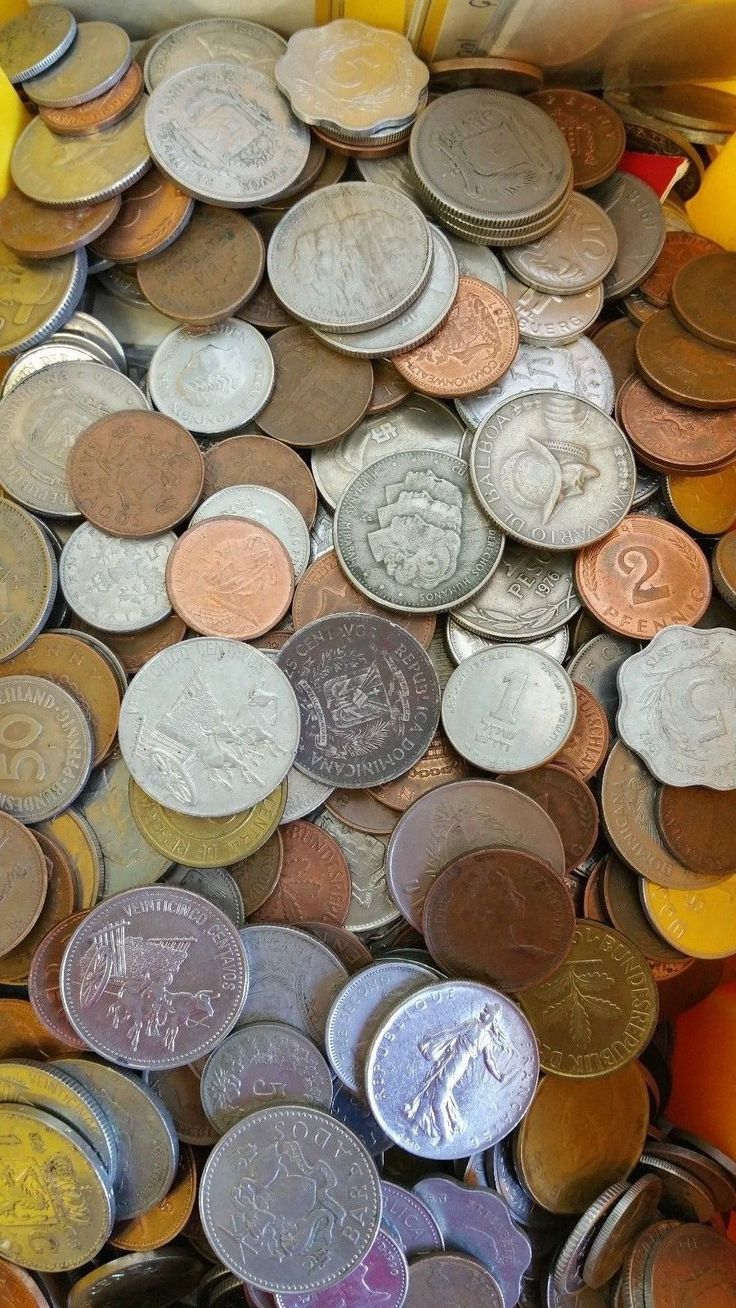 1,000 Foreign Coin Lot World Money Collection for Collectors