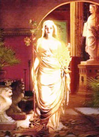 Vesta Greek Goddess | Picture of the goddess Vesta / Hestia