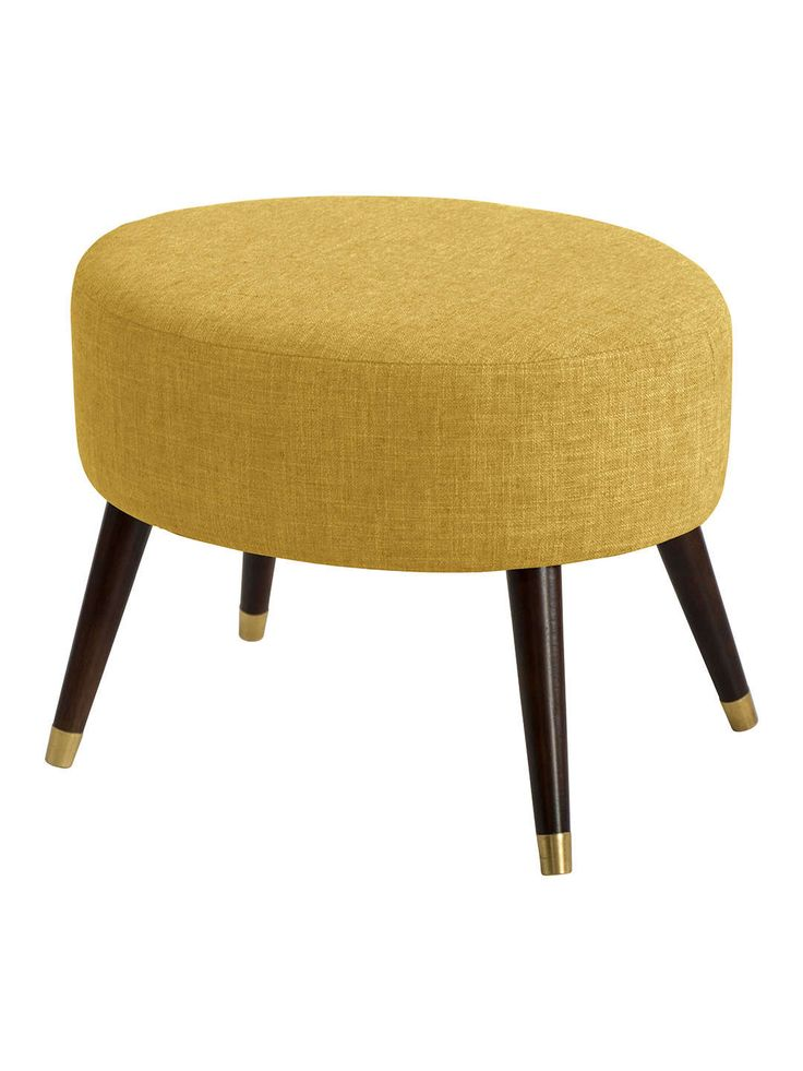 Andrews Oval Ottoman - Yellow