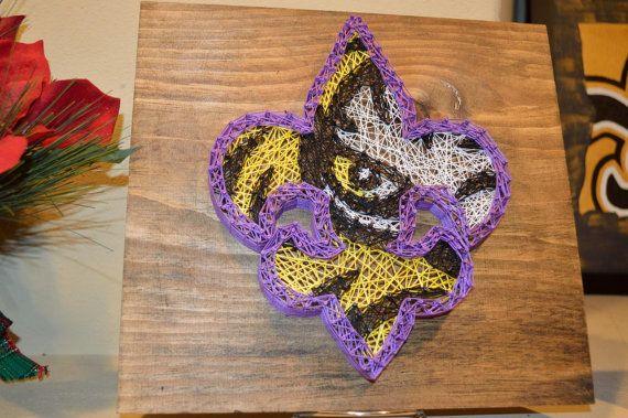 LSU Tiger Eye Fleur De Lis String Art by ...