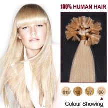 22 Inches White Blonde Clip In Human Hair Extensions