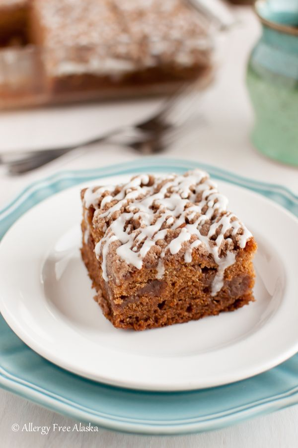 Super luscious Gluten-Free Cinnamon Streusel Coffee Cake Recipe from Allergy Free Alaska. Think decadent cinnamon roll - just without all of the extra work! @bobsredmill #BRMEaster #CleverGirls