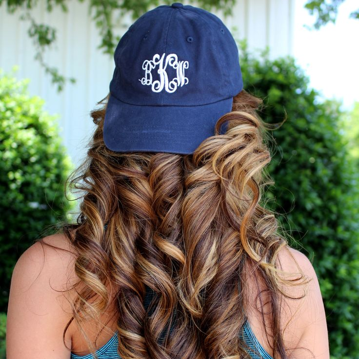 Monogrammed Baseball Hat from Marleylilly.com! Preview your monogram on the hat online! #hairgoals
