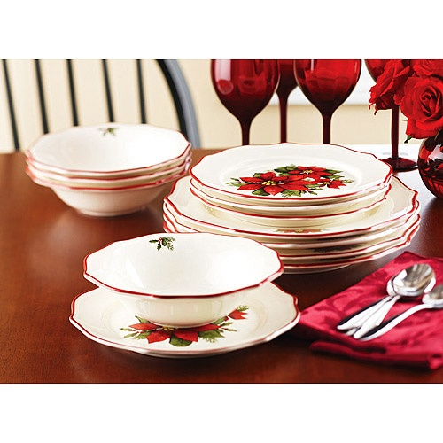 Walmart christmas dishes pinterest walmart - Better homes and gardens dish sets ...