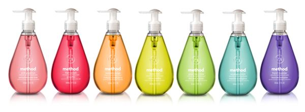 Method cleaning products have a modern design, smell good, and have green benefits.  Method bottles are made from recycled materials and are totally vegan products—both good for you and good for the environment.
