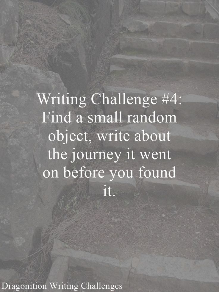 Writing Challenge #4: Find a small random object, write about the journey it went on before you found it.