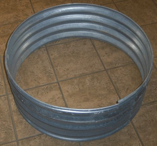 pin corrugated metal fire pit ring - Fire Rings