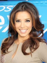 Eva Longoria Caramel Blonde Hair Highlights
