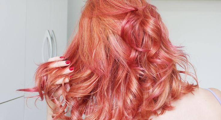 Meu novo tom: Rose Gold (rosa dourado)   Resenha: Insane Pink Hard Fix da Keraton