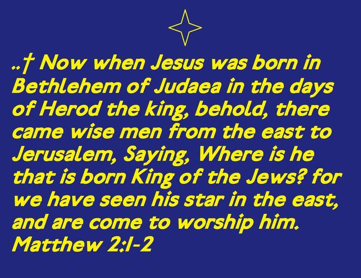 Born King of the Jews Matthew 2:1-2