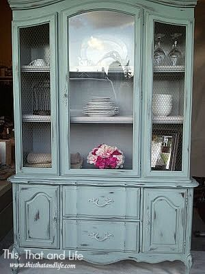 DIY French Hutch Makeover--one of the hutches that matches my dining room! (French Court)