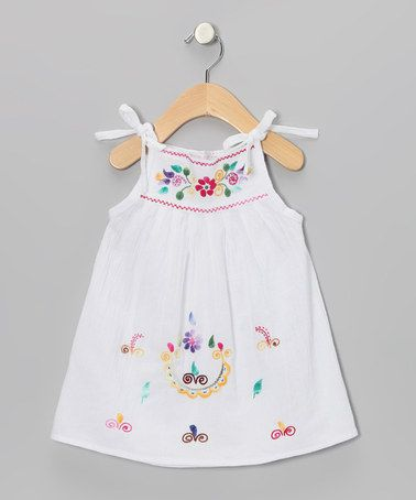 Take a look at this White & Multicolor Lolita Dress - Infant, Toddler & Girls by Little Cotton Dress on #zulily today!