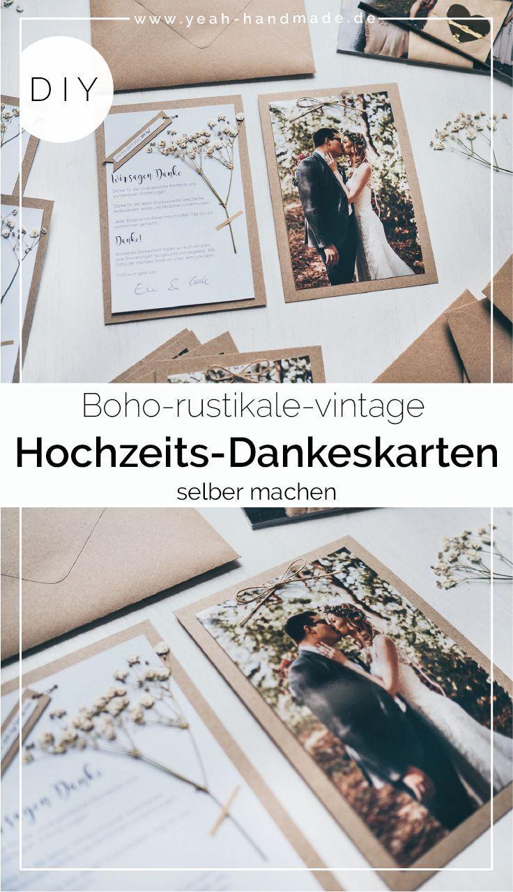 Machen Sie DIY Hochzeit danke Karten selbst – # danke Karte #DIY #wedding #make up … – A Hochzeit