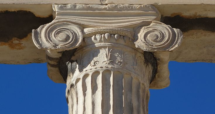Ionic Order - North Porch of the Erechtheion, 421-407 B.C.E., marble, Acropolis, Athens