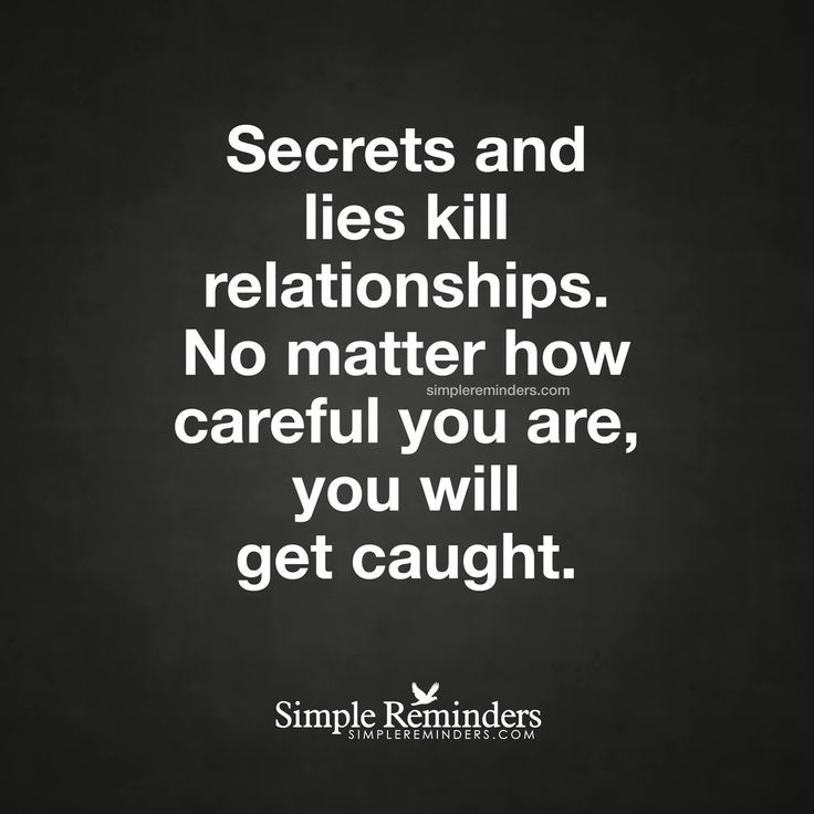 Those who have secrets, it'll haunt you no matter what you say!