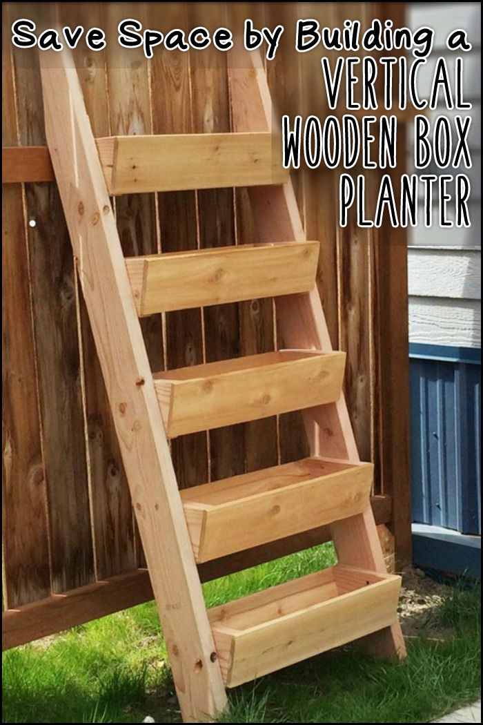 Go vertical with your greenery! This planter saves garden space and is efficient in watering plants ;)