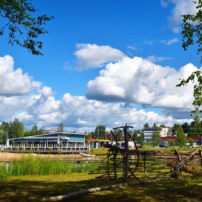 Coffee shop beside the lake in Kankaanpää.