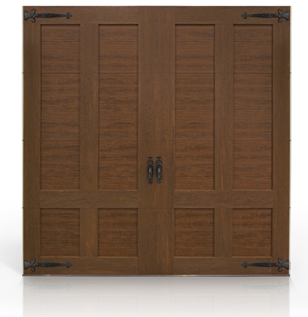 The clopay canyon ridge collection ultra grain series faux for Clopay wood garage doors
