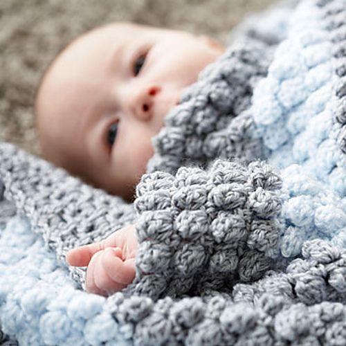 popcorn crochet granny square blanket FREE pattern