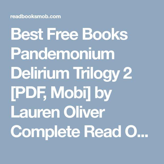 Best Free Books Pandemonium Delirium Trilogy 2 Pdf Mobi By Lauren