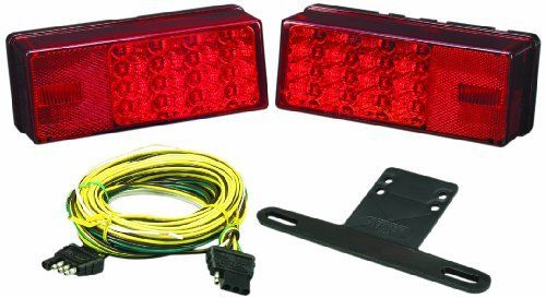 "Wesbar 407540 Waterproof LED Low Profile Tail Light Kit, Over 80"" Wide Trailer"