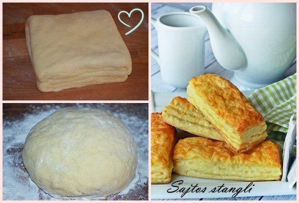 A réteges sajtos Stangli Hozzávalói 20 nagyobb vagy 40-50 kisebb stanglihoz: – 4 bögre fehér finomliszt (50 dkg) – 20 dkg vaj – egy kocka élesztő (5 dkg)