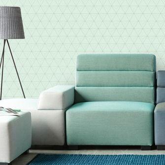love this wallpaper! design by Eijffinger® vliesbehang driehoek mintgroen   Behang   Behang   KARWEI