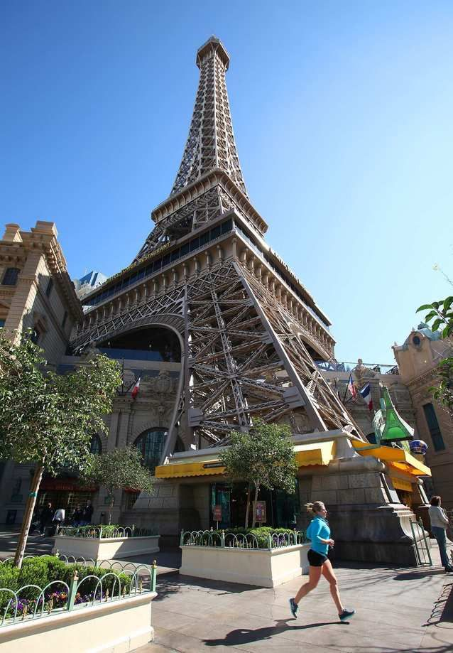"""It's not as adrenaline-pumping as the Stratosphere Tower ride, but going 460 feet up the Eiffel Tower (half the scale of the real one) offers spectacular panoramas of the Strip ¿ without being strapped in. Why not create your own \""""Midnight in Paris\"""" moment? It's open 9:30 a.m.-12:30 a.m. (barring bad weather) and costs $10.50-$15.50 for adults and $7.50-$casino-misc/eiffel-tower-detail.html"""