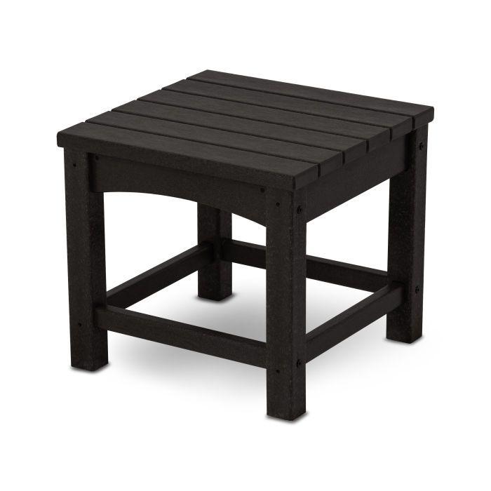 Poly-Wood TWSTGY 2-Shelf Side Table Slate Grey