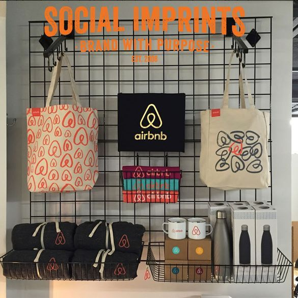 @Airbnb HQ swag store: T-shirts, totes, hoodies--and so much more! From our SF production facility to your door! #CSR #SF #socialenterprise