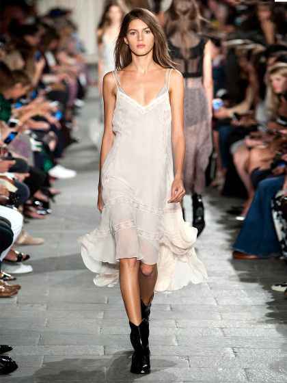 Ladies, you're in luck. A modern form of wearable lingerie lingered through the spring collections this year, with designers transforming sheer ...
