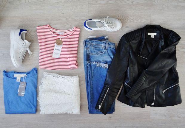 New in: sneakers en veel rood, wit, blauw. Shoplog haul blog fashion mode