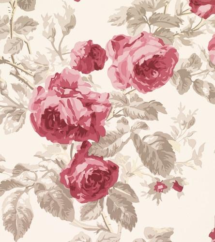 Laura Ashley Wallpaper Roses Cassis -Floral / Patterned / Damask
