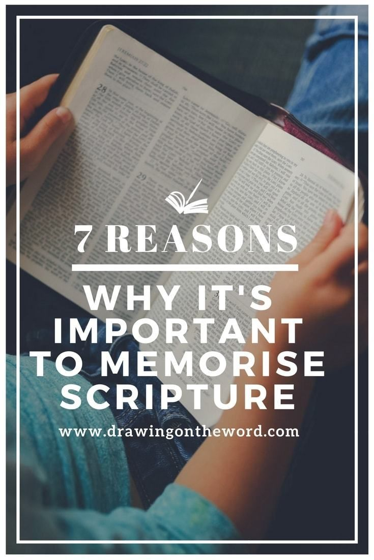 7 Reasons Why It's Important to Memorise Scripture | Walking