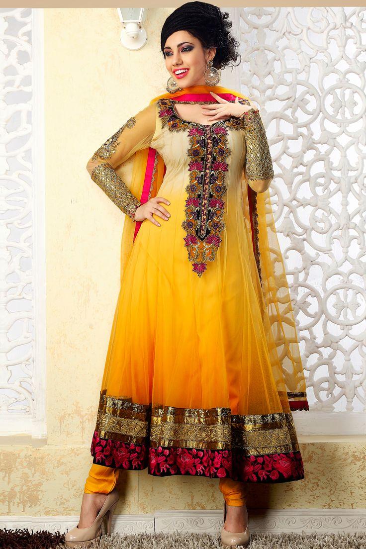 Stylish white dress wedding umbrella frocks churidar designs - Indian Anarkali Dresses Beautiful Designers Wedding Indian Anarkali Dress Trendy Mods Com