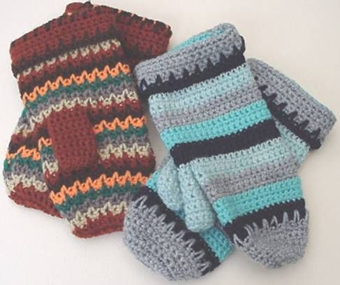 Crochet Mitten Pattern- free crochet patterns
