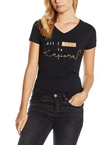 Kaporal Cobal, T-Shirt Femme^Femme, Noir (Black), FR: 38 (Taille Fabricant: M): Tee Shirt Femme Marque : Kaporal MatiÚre : Coton Couleur :…