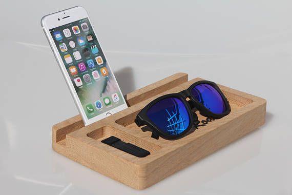 Svuotatasche personalizzato in legno Portaoggetti Docking