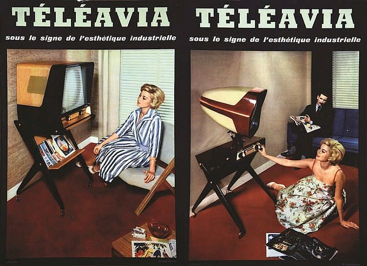 PHOTO : STUDIO CHEVALIER Lot de 2 Carton Publictaires Téléav