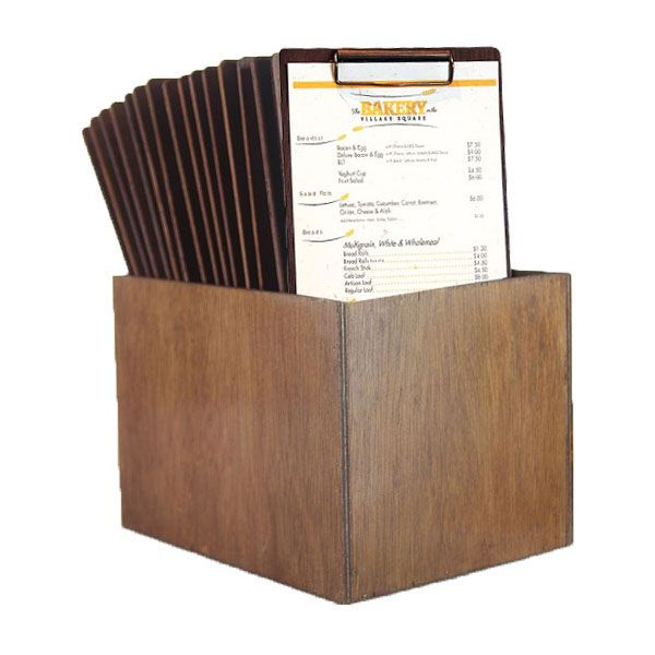 Free timber box when you buy 15 restaurant clipboards